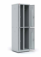 Шкаф двухсекционный металлический  4 ячейки
