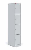 Шкаф для одежды металлический   4 ячейки