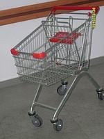 Тележки для супермаркетов 80Л цинк-акрил