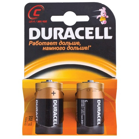 Батарейка Дюрасэл - Duracel C 2шт
