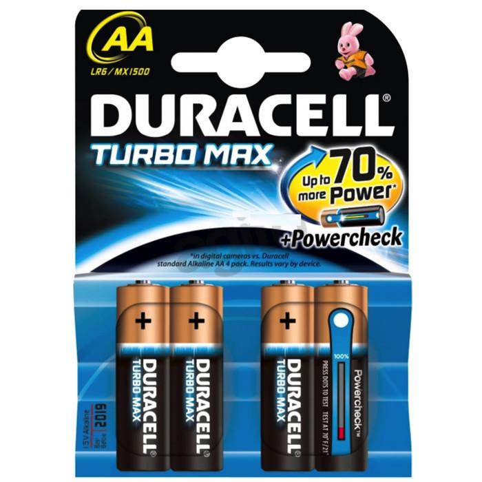Батарейка Дюрасэл - Duracell ААА / АА Turbo Mах 1,5V 4шт