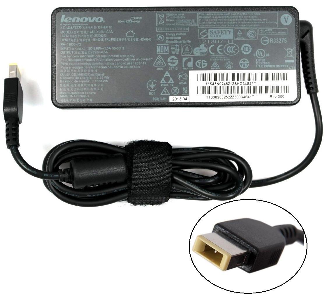 Блок питания для ноутбука Lenovo 20V 4.5A 90W Usb Pin (оригинальный)