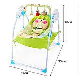 Музыкальные электрокачели Baby cradle, фото 9