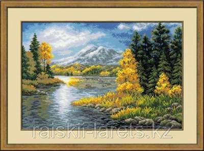 """Набор для вышивания крестом """"Озеро в горах""""  1235"""