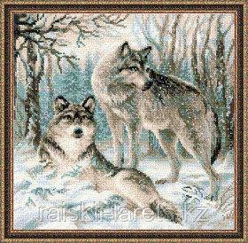 """Набор для вышивания крестом """"Волчья пара""""  1393"""