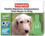 Beaphar Veto Nature Spot On Капли от блох, клещей и комаров для собак средних пород - 15-30 кг, 3 пипетки, фото 1