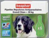 Beaphar Veto Nature Spot On Капли от блох, клещей и комаров для собак крупных пород (свыше 30 кг), 6 пипеток