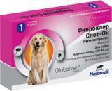 Фипроклир Спот Он 20-40 кг, 2,68мл 1пипетка Капли от блох и клещей для собак от 20 до 40 кг, фото 1