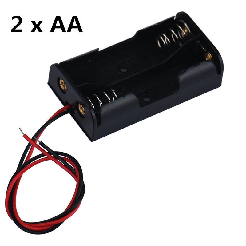 Корпус держатель батареек АА с проводами