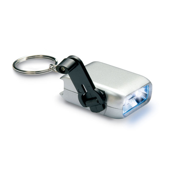 Брелок с динамо-фонариком