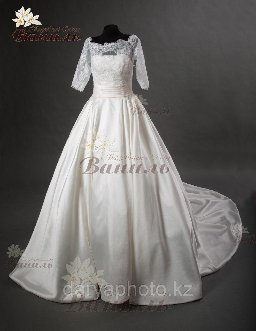 Свадебное платье - атласный шлейф - фото 2