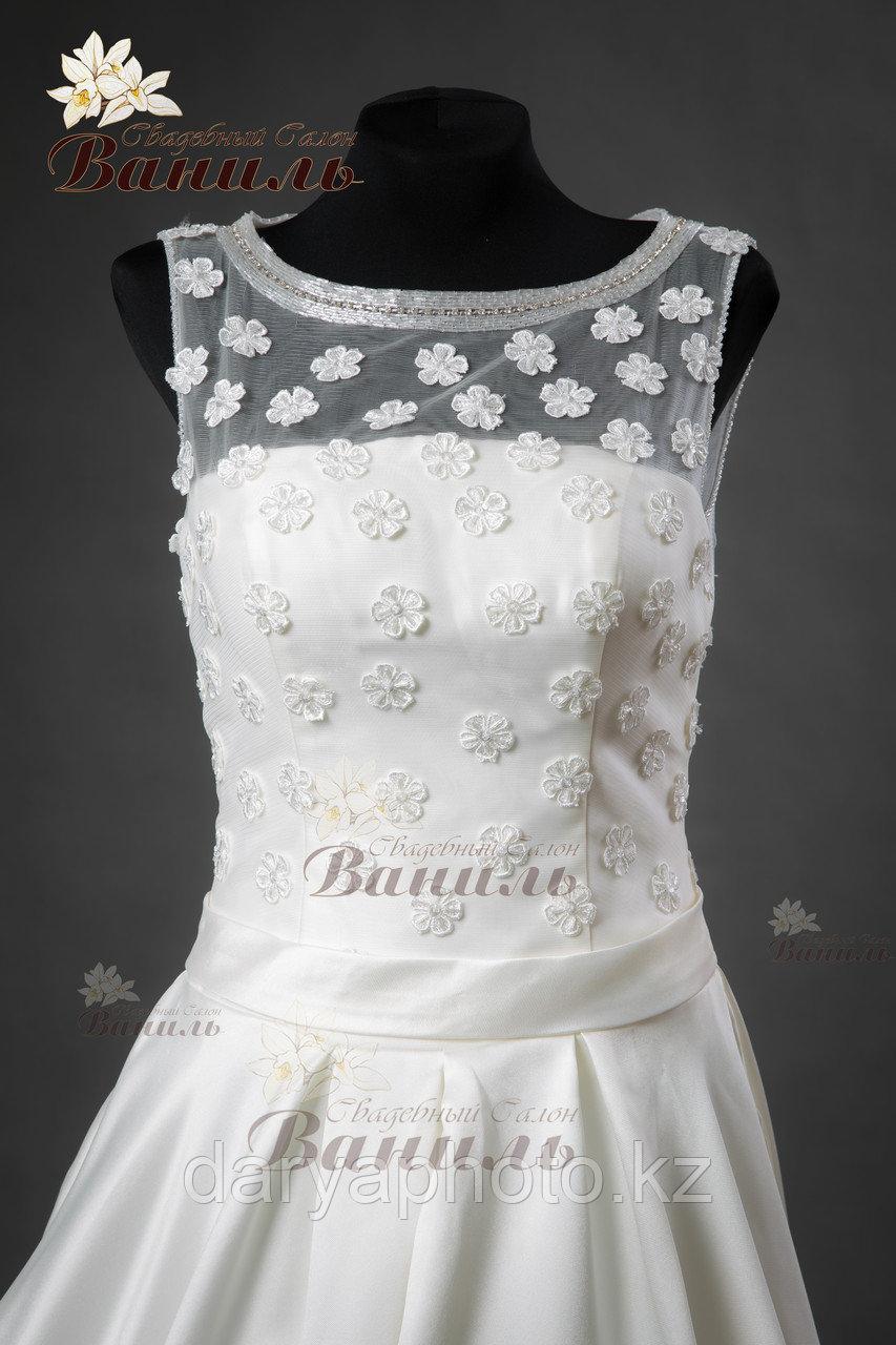 Свадебное платье - атласный шлейф - фото 5