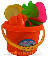 """Набор для песочницы """"Ведерко +игрушки (оранжевый)"""