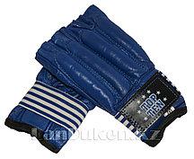 Шингарты кожаные М TOP TEN (синие)