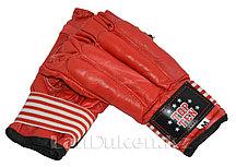 Шингарты кожаные М TOP TEN (красные)