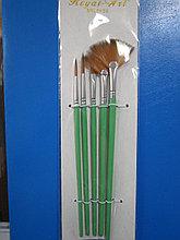 Набор кистей 5шт Royal-Art Brushes синтетика веерная, RA 135, Алматы