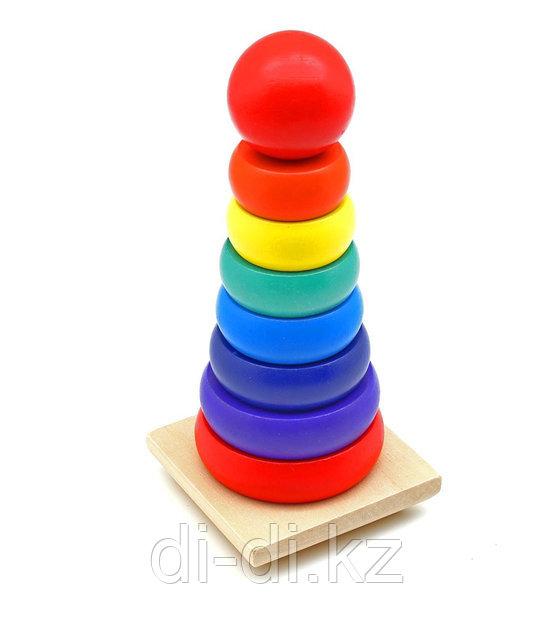 Детская Пирамидка деревянная