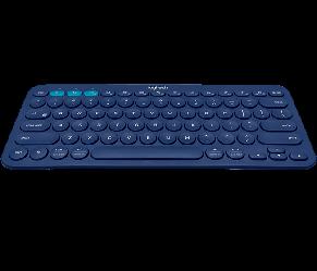 LOGITECH K380 Multi-Device Bluetooth(R) Keyboard-BLUE-US INT'L-BT-INTNL