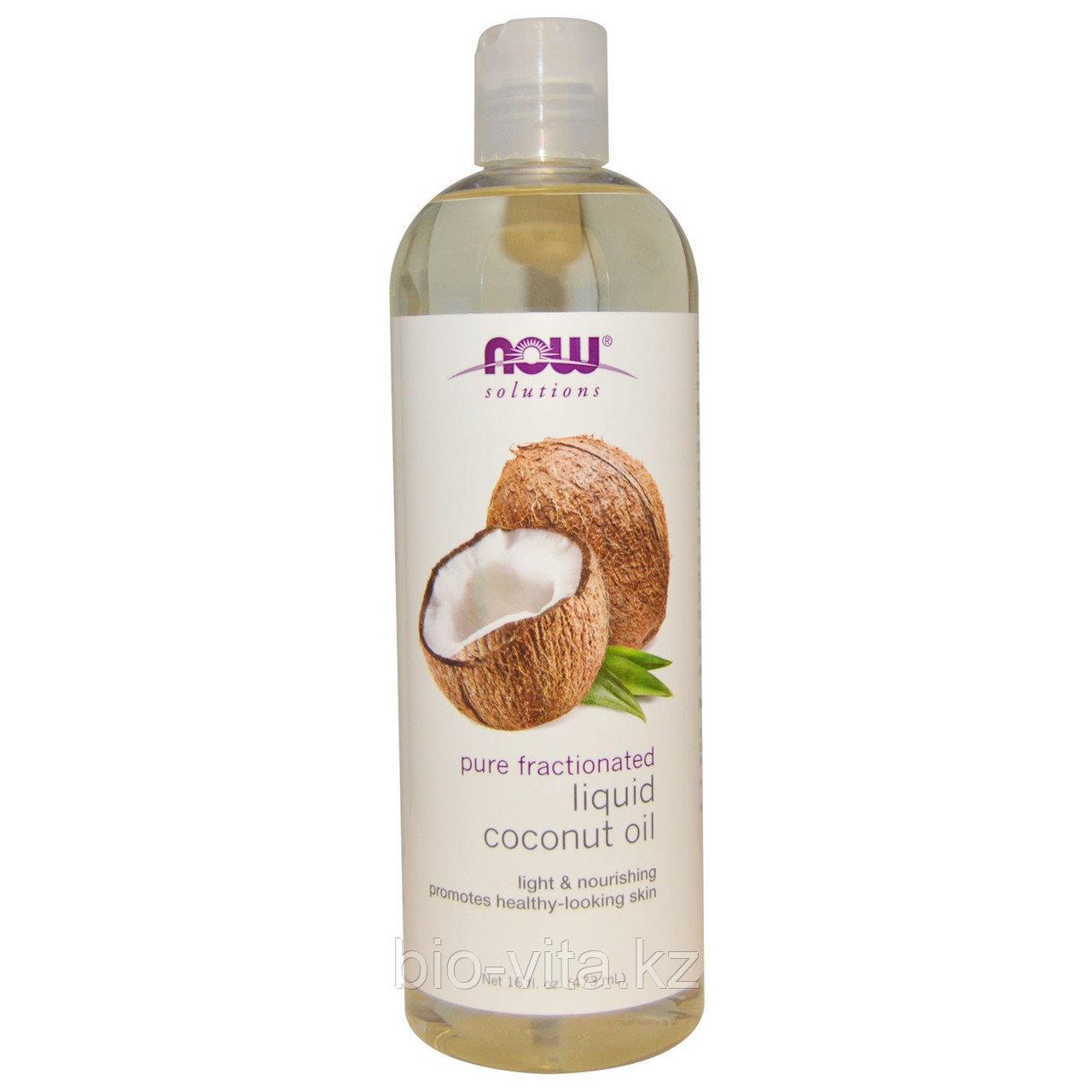Now Foods, Жидкое кокосовое масло, чистое, натуральное  473 мл.