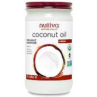 Nutiva, Органическое кокосовое масло, НЕРАФИНИРОВАННОЕ 680 мл). Для еды. Без холестерина.