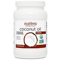 Nutiva, Nutiva, Nurture Vitality, кокосовое масло, холодной выжимки, нерафинированное (444 мл).Без холестерина