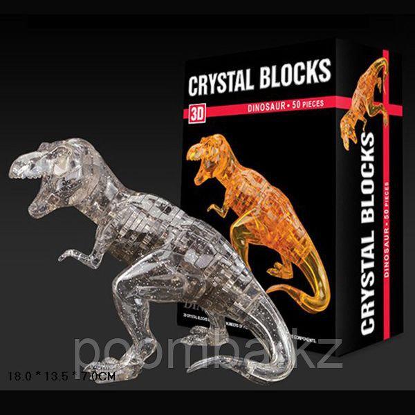 Динозавр T-Rex Кристалл 3д Пазл