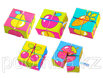 Игрушка кубики «Собери картинку» (Ягоды, Фрукты, Овощи)