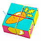Игрушка кубики «Собери картинку» (Ягоды, Фрукты, Овощи), фото 3