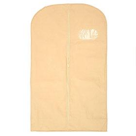 Чехол для одежды спанбонд, с окном 60х120 см, цвет бежевый