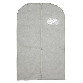 Чехол для одежды спанбонд, с окном 60х120 см, цвет бежевый, фото 2