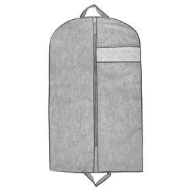 Чехол для одежды с окном 100х60 см, цвет серый
