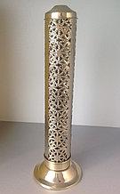 Пенал под благовония, вертикальный металический,золотой цвет.