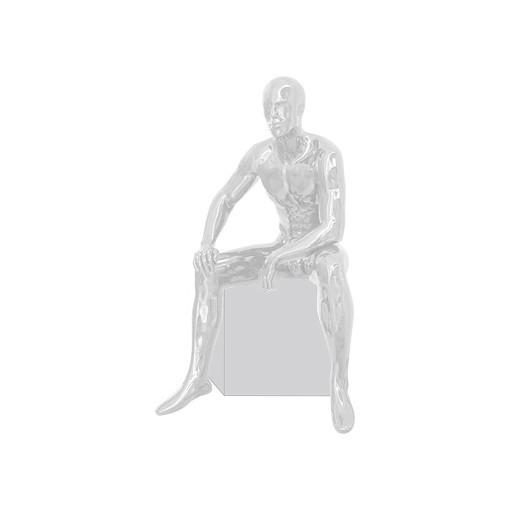 Манекен мужской сидячий глянцевый