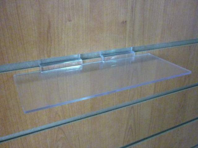 Полочка прямая прозрачная на эконом панель