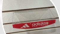 """Полочка овальная прозрачная """"Adidas"""" на эконом панель"""