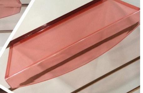 Полочка овальная красная на эконом панель