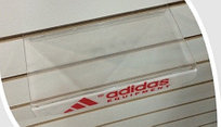 """Полочка прямая прозрачная """"Adidas"""" на эконом панель"""