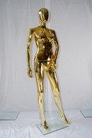 Манекен глянцевый золотистый