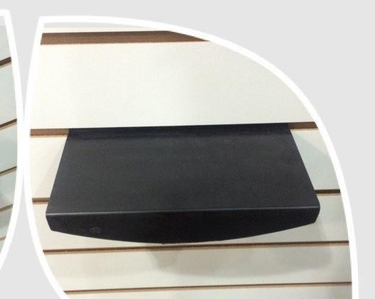 Полочка овальная черная на эконом панель