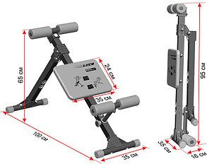 Скамья для пресса и мышц спины Leco-IT Home до 120 кг, фото 2