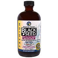 Amazing Herbs, Черный тмин, 100% чистое масло семян черного тмина холодного отжима,(236 мл)БЕСПЛАТНАЯ ДОСТАВКА