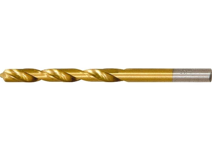 (717450) Сверло по металлу, 4,5 мм, HSS, нитридтитановое покрытие, цилиндрический хвостовик// MATRIX