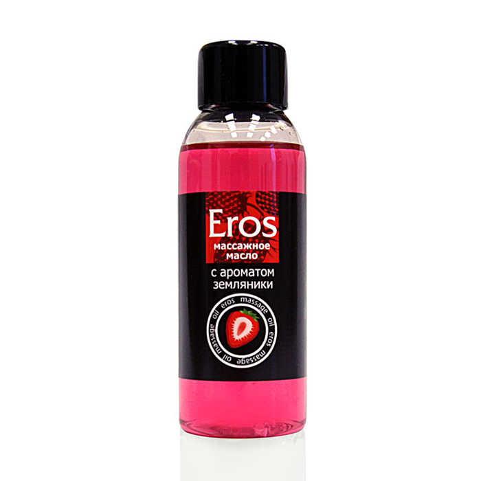 Масло массажное Eros Fantasy с ароматом земляники, 50 мл
