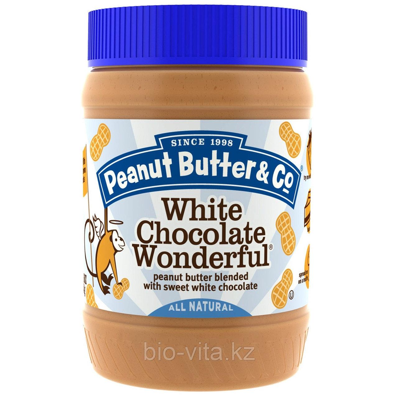 Peanut Butter & Co., Арахисовое масло,со сладким белым шоколадом, 454 г.Бутербродное.