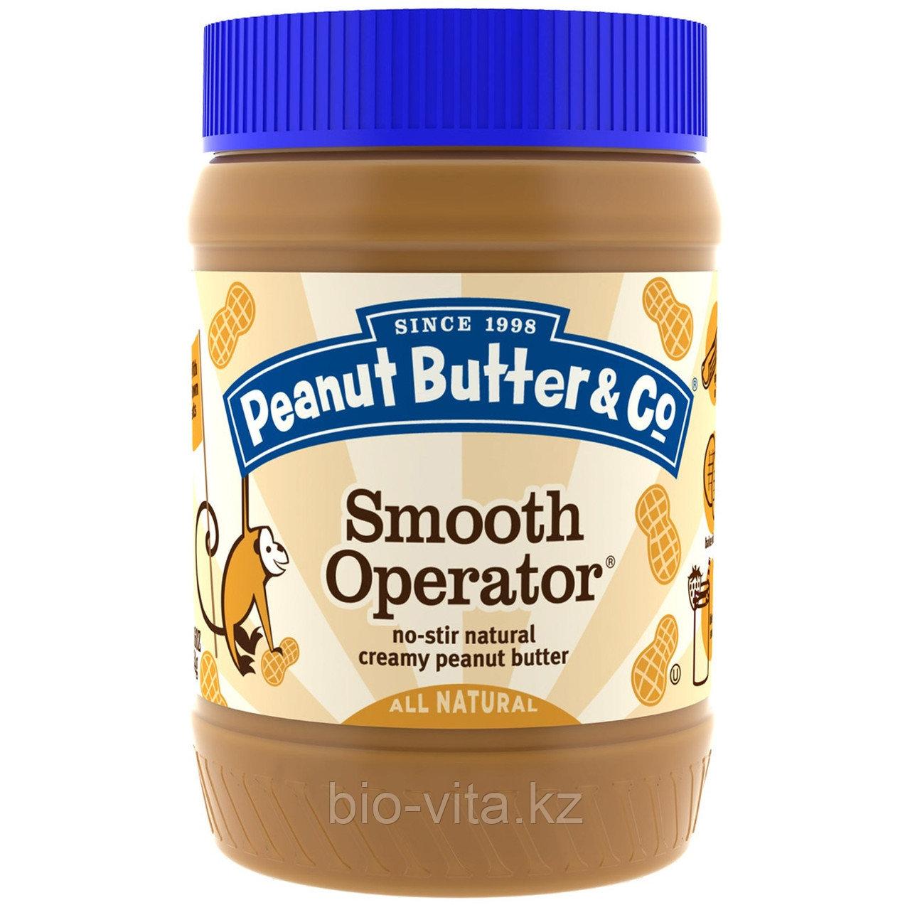 Peanut Butter & Co., Натуральное Арахисовое Масло,  (454 г)Бутербродное