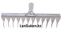 Грабли 12-зубые витые 290 мм нержавеющая сталь без черенка СИБРТЕХ 61753 (002)