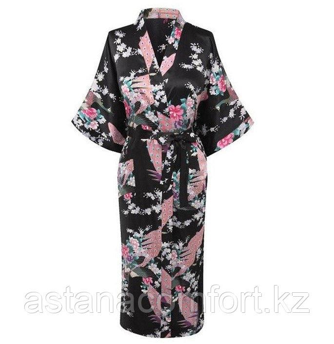 Халат кимоно атласный