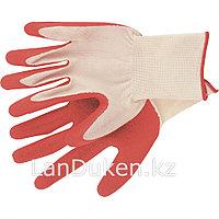 Перчатки вязаные полиэфирные с рельефным покрытием из нат. латекса 15 класс 57гр. СИБРТЕХ 67767 (002)