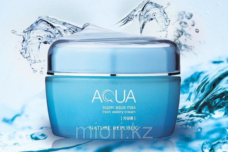 Увлажняющий крем для жирной кожи Super Aqua Max Fresh Watery Cream,80мл