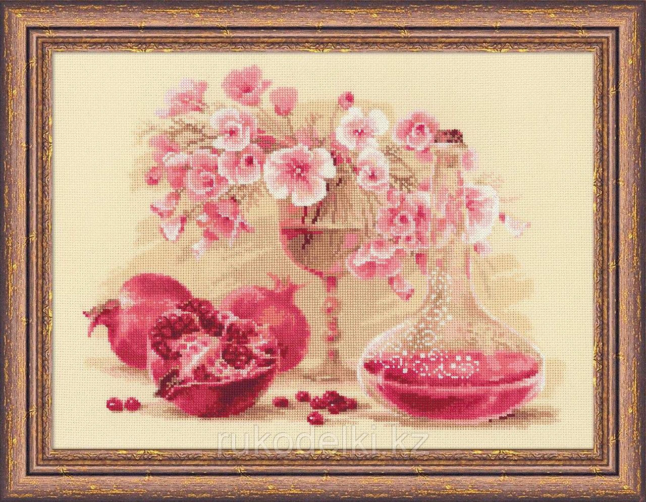 """Набор для вышивания крестом """"Розовый гранат"""""""